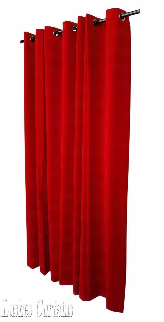 rouge cerise œillet 183cmh rideaux velours Panneau W / métal œillet cerise 1ba090