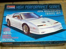 Vintage Monogram 20th Anniversary TRANS AM Turbo GTA . 1:24 Unbuilt