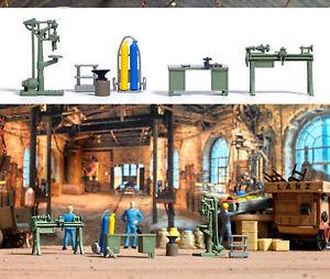 Busch 1185 Handwerker Werkstatt, H0