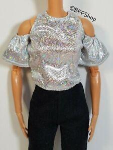 MATTEL PURPLE TOP SHIRT BARBIE FASHIONISTAS FASHION CLOTHES CURVY