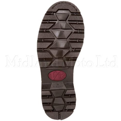 V12 Stampede Steel Toe Cap Safety Dealer Boots Brown Leather Chelsea V1241