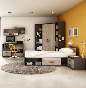 Kinderzimmer-Set-Bethel-II-Modern-Kollektion-Jugendzimmer-Bett-Kleiderschrank