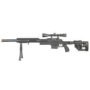 WELL-Airsoft-Sniper-Rifle-MB4411-Bolt-Action-with-Rail-Bipod-3x-Scope-420-FPS