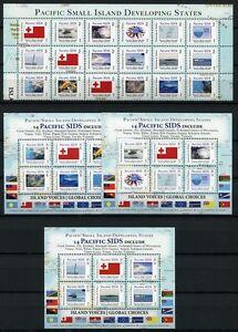 Tonga-2014-Pacific-Sides-Flaggen-Fische-Schiffe-Wirbelsturm-Fishes-Ships-MNH