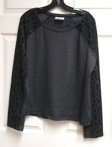 Calia-Carrie-Underwood-Limited-Edition-Velvet-Pieced-Pullover-Top-NWT-Caviar-XL