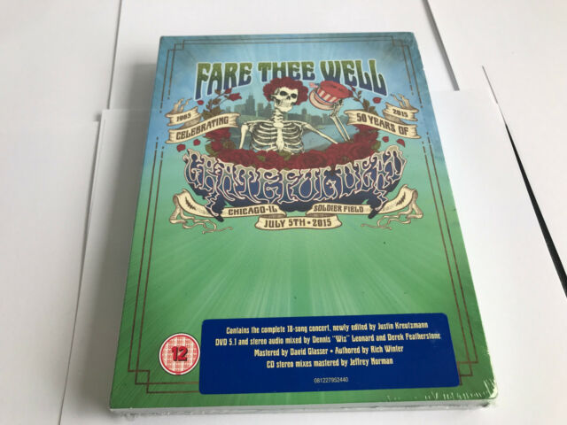 Fare Thee Well (July 5th) Grateful Dead Audio 3 CD 2 DVD 5 DISC NTSC NEW SEALED