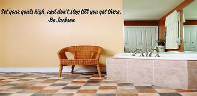 """Bo Jackson Wall Quote - Inspirational Vinyl Decal -1"""" lettering [Sports Q122]"""