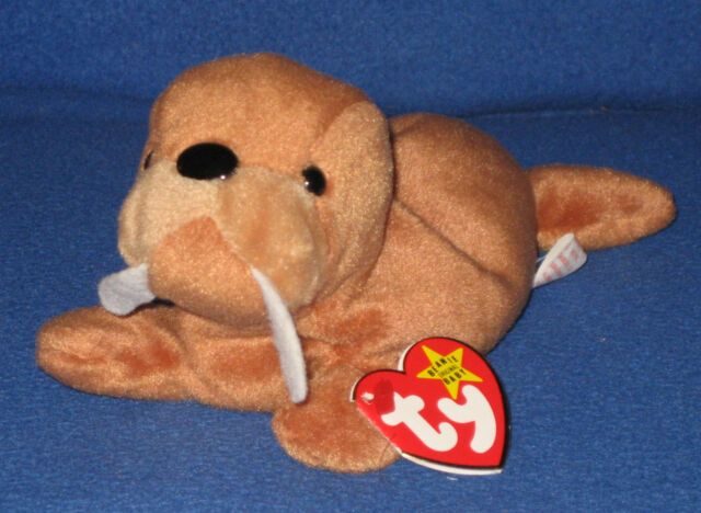 d675fe8de92 1995 Ty Beanie Baby Tusk The Walrus 3rd Generation for sale online ...