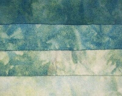 """1 Fat Quarter 100/% Wool /""""Yellow Turquoise/"""" hand dyed rug hooking wool fabric"""
