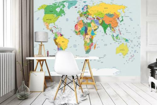 Photo Wallpaper Mural Non-woven 10253/_VE Physical Map of the World world map ear