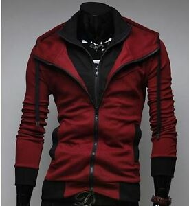 Men-039-s-Slim-Fit-Casual-Hooded-Cardigan-Sweater-Jacket