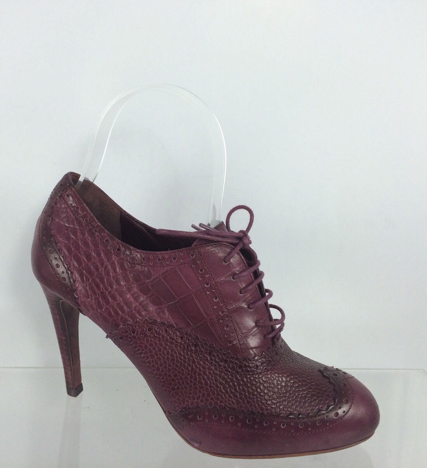 buona qualità Cole Haan Haan Haan donna Maroon viola Leather Ankle stivali 6 B  prezzi bassi di tutti i giorni