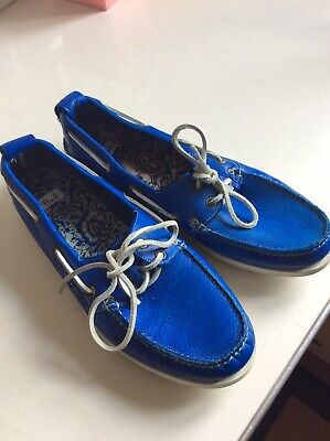 Paul Smith Red Ear Blue leather Boat
