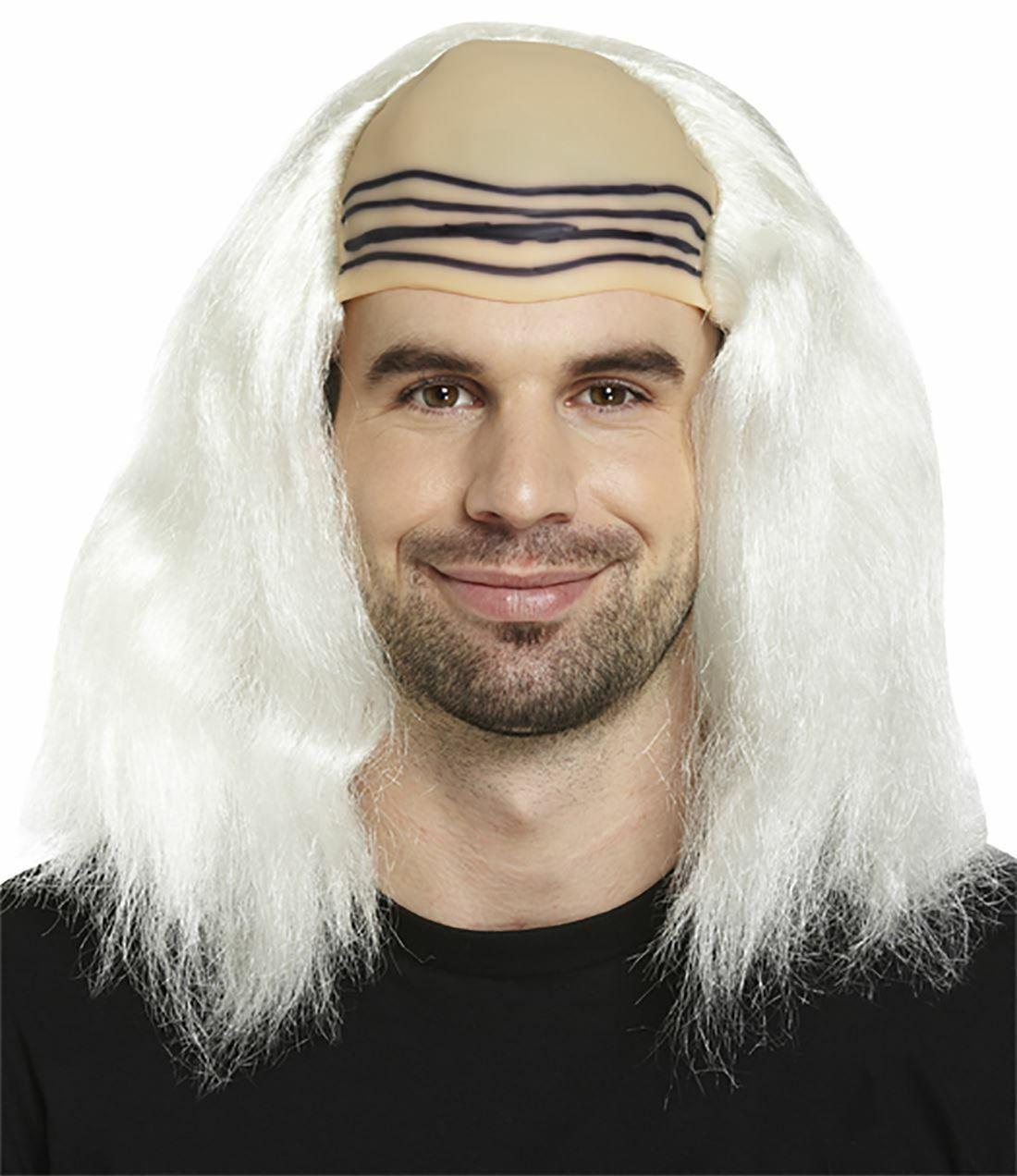 Spinbit Adults Horror Scientist Wig Mens Halloween Fancy Party Wear Accessory