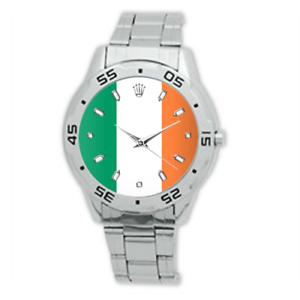 Ireland-Flag-International-Football-Watch-Stainless-Steel-Bracelet-Strap-Men-039-s