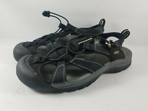Keen-Venice-H2-Mens-Size-12-Waterproof-Sports-Sandals-Hiking-Walking-All-Black