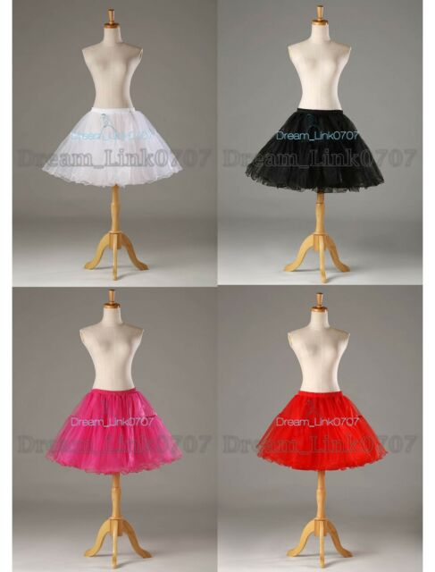 4 Colors Crystal Yarn  Cocktail Prom Crinoline Petticoat Slip Short Skirt TUTU
