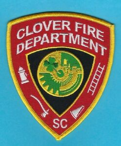 Image Is Loading CLOVER FIRE DEPARTMENT PATCH SOUTH CAROLINA VERY NICE