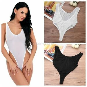 450d91e3879 Sexy Womens One-Piece Backless High Cut Lingerie Swimwear Leotard ...