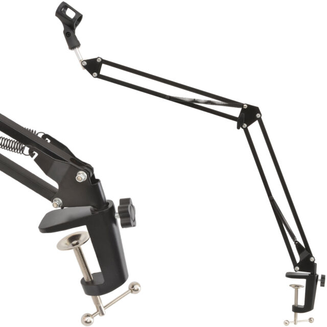 Small 360° Adjustable Microphone Boom Arm-Swivel Desk Suspension Spring Stand