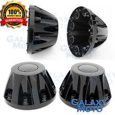 "11-16 GMC Sierra DUALLY Model BLACK 17"" 2x REAR set Wheel Center Hub Cap Cover"