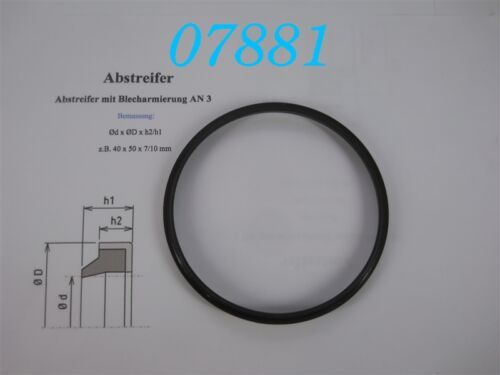 ABSTREIFRING  AS 110 x 120 x 7//10 Mm  PROFIL AN3 CFW ABSTREIFER