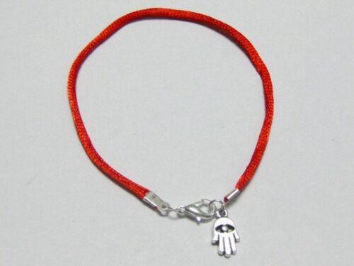 10 Mixte Kabbalah Main Charms Rouge String bonne chance Bracelets 20 cm