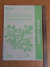 41 RALLY SANREMO '99 SAFETY BOOK ORIGINALE DELTA HF INTEGRALE WRX COSWORTH GTI