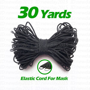 Black-30-yards-3mm-Round-Elastic-Band-Cord-Sewing-Soft-For-Face-Mask-DIY