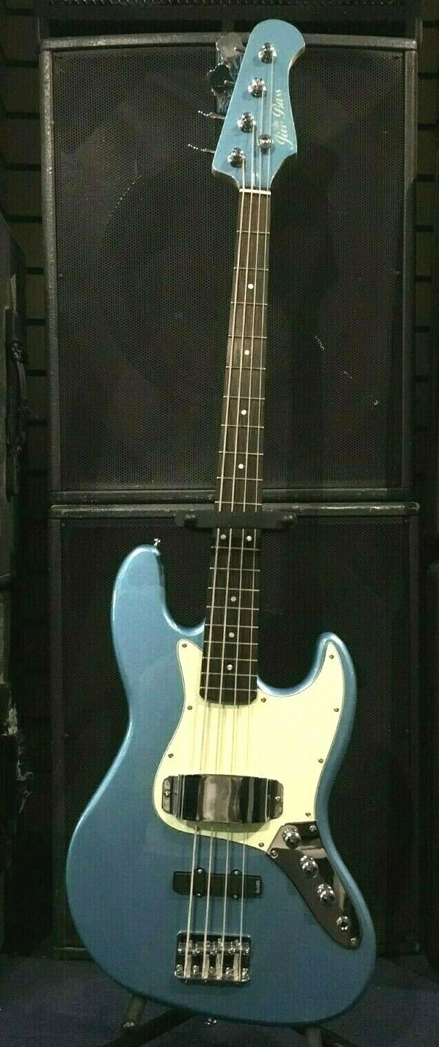 BASS COLLECTION JIVE BASS GUITAR, WINDERMERE Blau - NEW