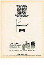PUBLICITE  1969   MARCEL ROCHAS   MOUSTACHE   cosmétiques parfum homme