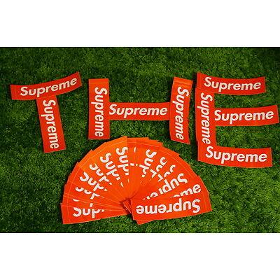 "Supreme Sticker Box Logo Red Vinyl Classic Laptop Decals Regular 2.2"" * 8"""