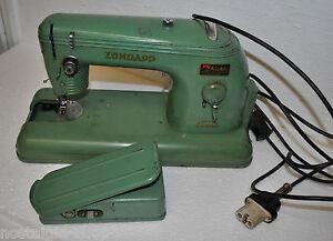 Antike Nähmaschine Zündapp Elcona Elektrisch Original 50er Jahre