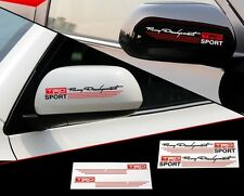New PVC Car Mirror Stickers Auto Reflectors Sticker Emblem TRD Logo For TOYOTA