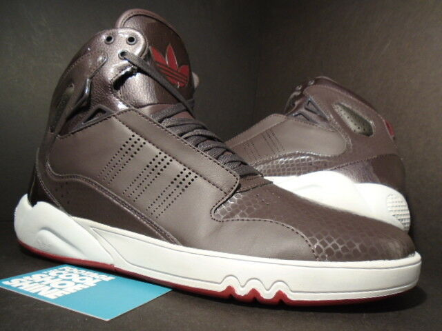 2012 ADIDAS ROUNDHOUSE SUPERSATAR MID 2.0 RED URBAN TRAIL BROWN GREY RED 2.0 G56232 10 afaec4