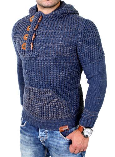 Tazzio Pullover A Maglia Uomo Grob A Maglia Invernale con Cappuccio Pullover tz-440 NUOVO