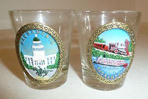 Sacramento-California-Shot-Glasses-Lot-of-2-Souvenir-Novelty-Tourist-Train