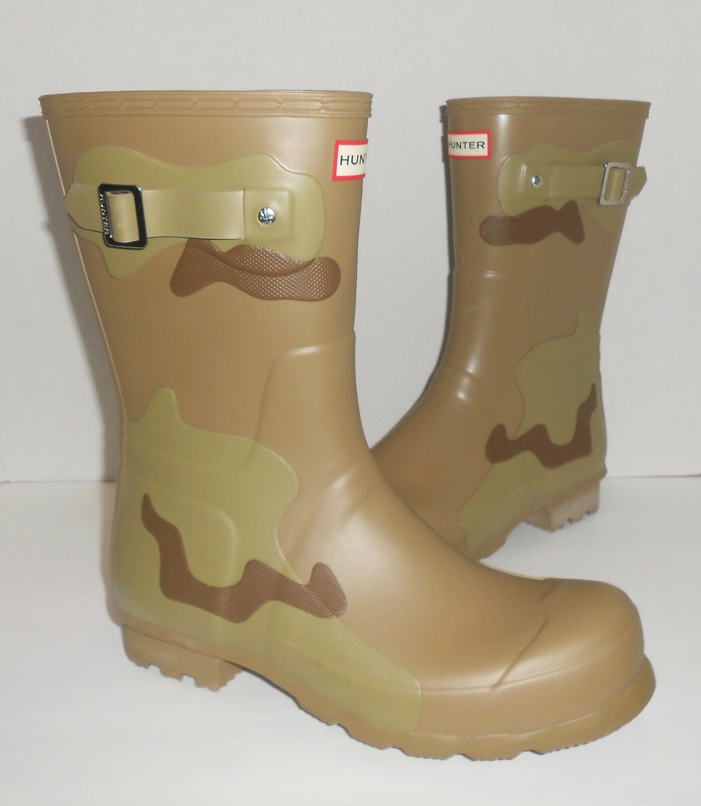 Hunter Camo corto corto corto para mujer botas de lluvia marrón verde Talla 11  orden en línea