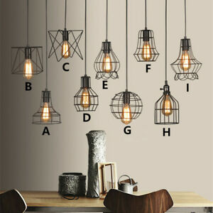 Details About Black Ceiling Lights Bar Vintage Pendant Light Kitchen Led Lighting Bedroom Lamp