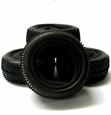 A66005/026T 1/10 Off Road Front Rear Buggy RC Rubber Pin Tyre Black Foam Insert