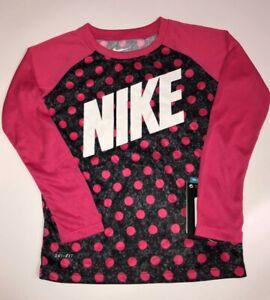 Nike Girls 2T Dri-Fit Shirt with Pink Polka Dots