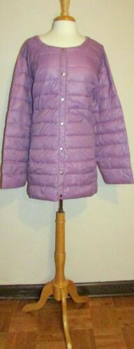 Womans Plus 4X Nylon Packable Lined Light Weight Puffer Coat New in Package
