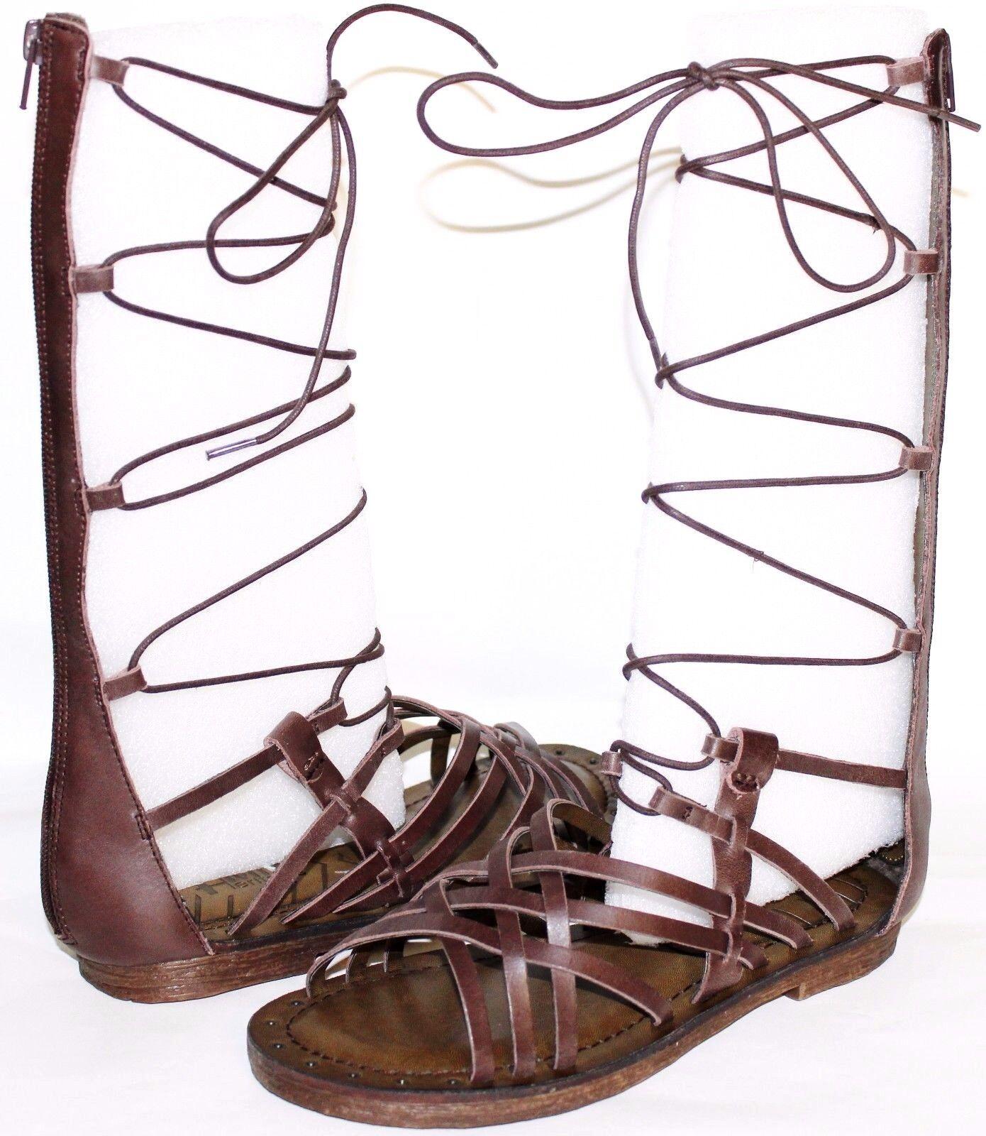 MIA Heritage Lenora Espresso Premium Leather Gladiator Sandals 7 M NEW  L@@K