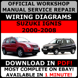 OFFICIAL WORKSHOP Service Repair MANUAL for SUZUKI IGNIS 2000-2008 ...