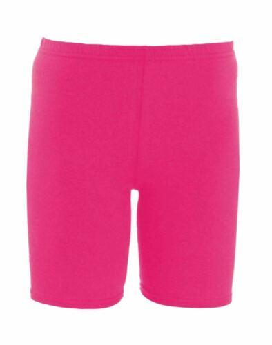 Girls Kids Plain Stretchy Dance Gymnastics Sports School Summer Cycling Shorts