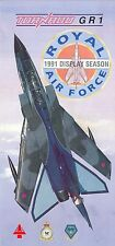 Broschüre Tornado GR1 Solo Display Team 1991, Royal Air Force, selten, rare!