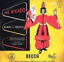 Gilbert & Sullivan THE MIKADO D'Oyly Carte ISIDORE GODFREY LP 2 DECCA UK LK 4011