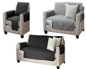 Details about Reversible Seat Cover Sofaschoner 1-seater 2-Sitzer 3-seater  Sofa Cover