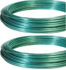 (2) rolls Hillman 122100 Dand-O-Line 100' ft Green Coated Clothesline Wire