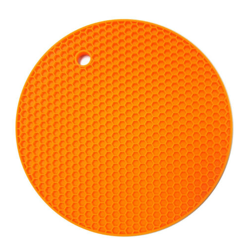 Oven Mitt for Kitchen Silicone Heat Resistant Mat Round Non Slip Pot Holder Pad